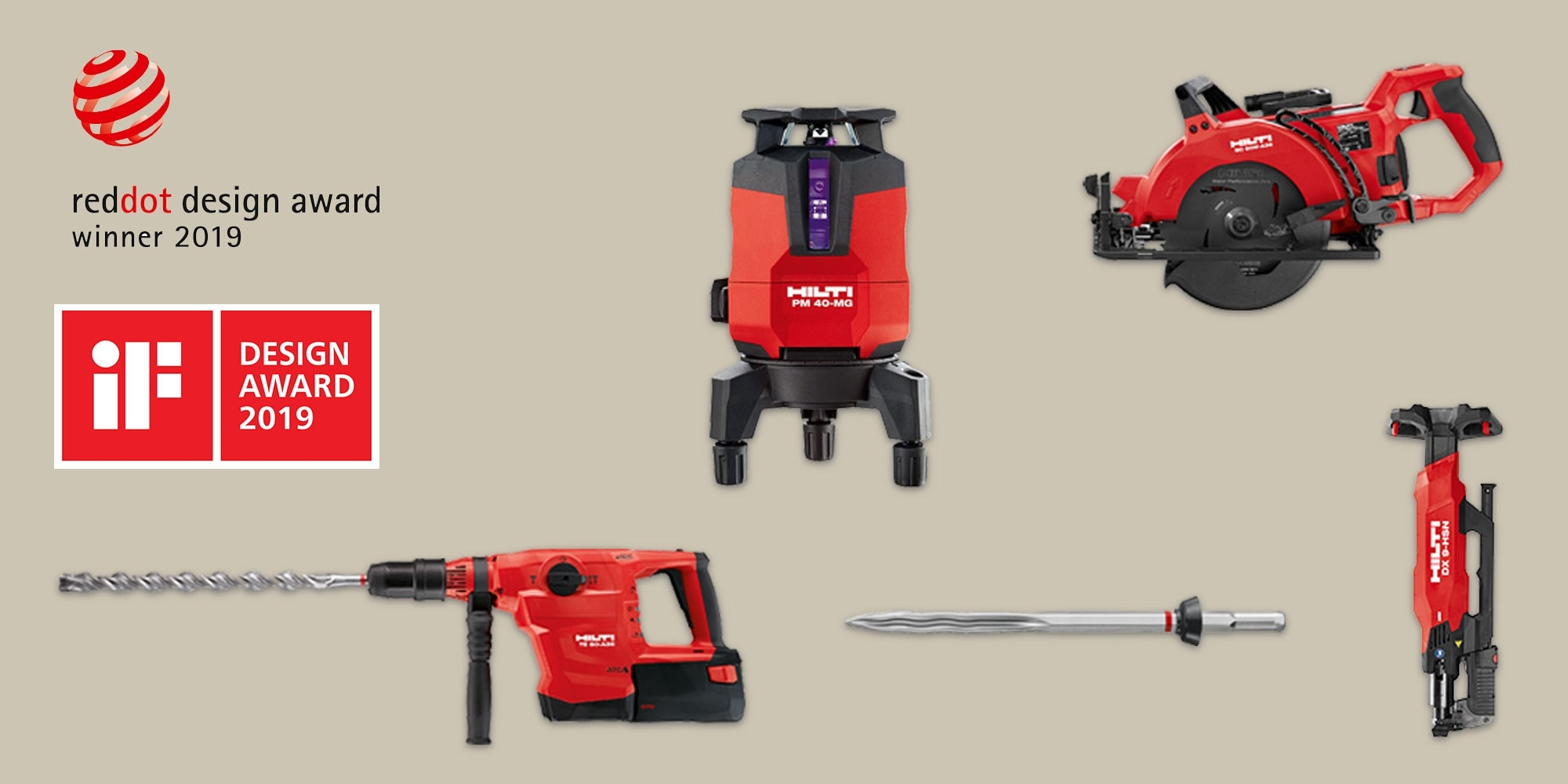 Inovações Hilti distinguidas nos Red Dot Design
