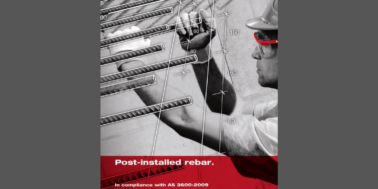 Post-installed rebar manual